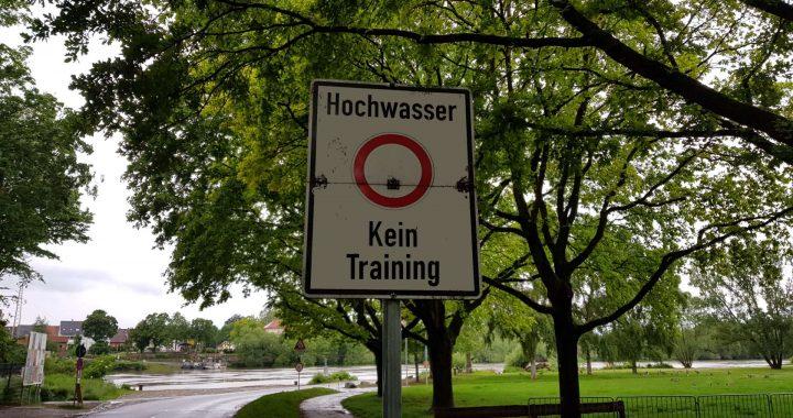 Hochwasser somit kein Training